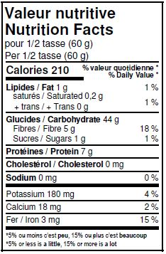 valer nutritive farine d'épeautre