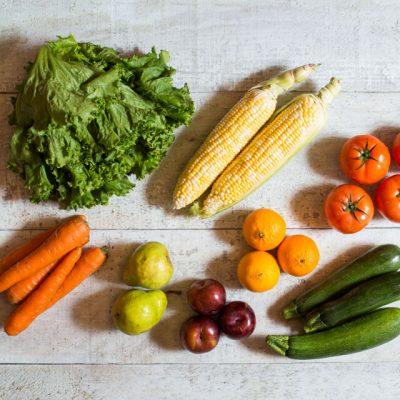 panier de fruits et légumes internationaux 1 personne