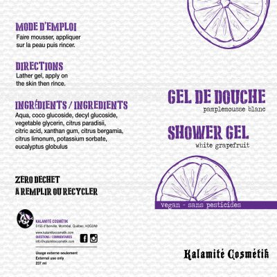 gel douche naturel